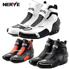 motorcycle boots and shoes nerve cowhide leather racing boots motorcycle boots motorbike riding