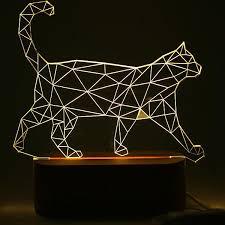 usb cat night light nordic 3d micro usb cat animal wooden base led table l night
