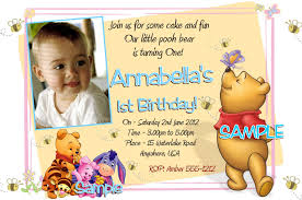 Create 1st Birthday Invitation Card For Free Winnie The Pooh Birthday Invitations U2013 Frenchkitten Net