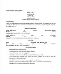 Mba Internship Resume Sample by Finance Resume Templates 28 Free Word Pdf Documents Download