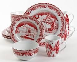 christmas dinnerware winter cottage 16 christmas dinnerware set 92555 16