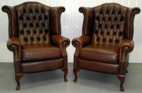 Ebay Armchair Chestnut Brown Leather Chair Foter