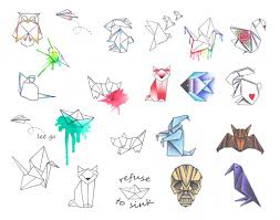best 25 origami tattoo ideas on pinterest geometric tattoo