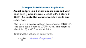 volume of a pyramid and a cone ppt video online download