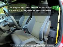 siege recaro megane rs essai renault megane 3 rs châssis cup actu automobile