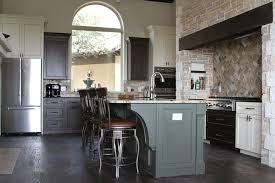 Mission Style Corbels Austin Mission Style Kitchen Traditional With Mixed Paint And