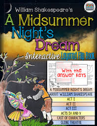 shakespeare a midsummer night u0027s dream activity final exams