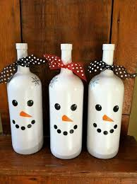 wine bottle christmas ideas diytotry wp content uploads 2015 12 snowman wi