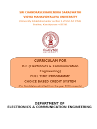 scsvmv university ece syllabus magnetic field fourier series