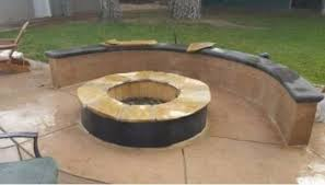 Concrete Fire Pit by Fire Pit Installation Contractor Roseville Ca
