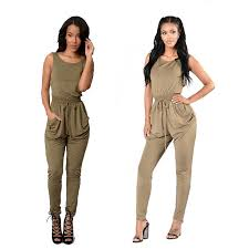 plus size bodycon jumpsuit com buy bodycon jumpsuit sleeveless solid lace up pockets slim