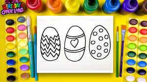 learn to color for kids and color this easter egg coloring page