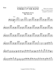 Count Basie Big Band Charts Strike Up The Band