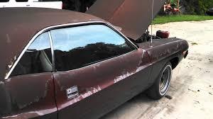 Dodge Challenger 1974 - 1974 dodge challenger 318 exhaust youtube