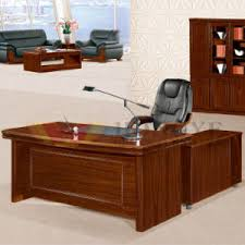 Executive Desk Solid Wood China Walnut Furniture With Side Table Solid Wood Executive Desk
