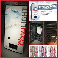 coors light beer fridge new coors light refresherator talk vendingmachine refrigerator free