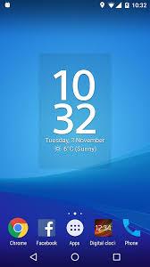 digi clock widget apk digital clock widget xperia 5 1 5 236 apk android