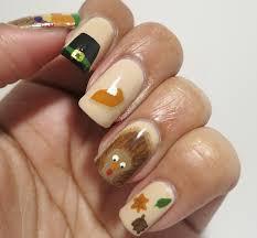 easy thanksgiving nail art designs thanksgiving themed nail art 1