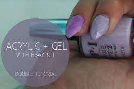 double attempt full colour acrylic gel methods with ebay kit