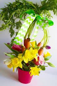 easter arrangements centerpieces easter table carrot flower centerpieces