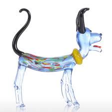best and cheap multicolored tooarts long ear dog gift glass