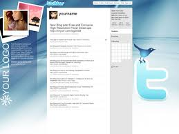free twitter background templates in photoshop psd shades of blue