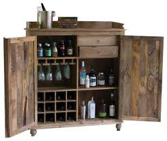Distressed Wood Bar Cabinet Industrial Interior Polyvore
