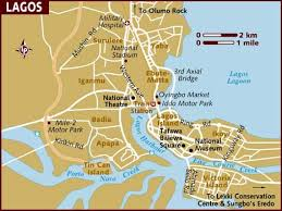 map of nigeria africa map of lagos