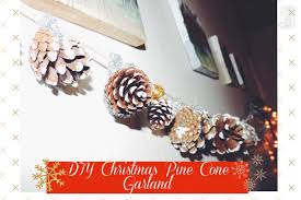 pinecone garland diy christmas pinecone garland