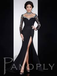 formal gown beaded collar jersey pageant dress panoply 14592 pageantdesigns
