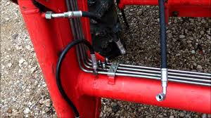 changng hydraulic hoses on front loader youtube
