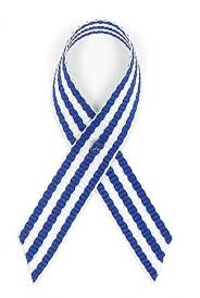 blue and white striped ribbon navy and white pinstripe awareness ribbon pin for als