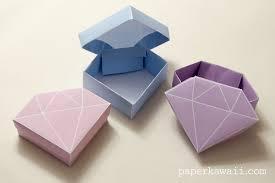 origami free printable origami crystal box tutorial best origami