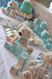 teddy baby shower ideas blue baby shower babies babyshower and baby shower boys