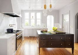 kitchen with black island and white cabinets best two toned kitchen cabinet ideas
