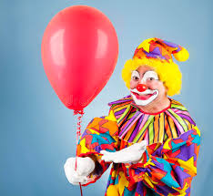 clown balloon l clown with balloon for you stock photo image of clown 13689758