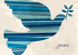 blue striped dove of peace greeting cards artline greetings
