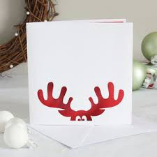 christmas cards reindeer papercut christmas card by whole in the middle