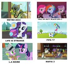 Best Mlp Memes - my little pony videogames meme 3 by brandonale on deviantart