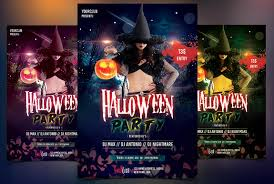 halloween party psd flyer flyer templates creative market