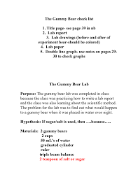 writing lab reports and scientific papers gummy bear lab report pdf