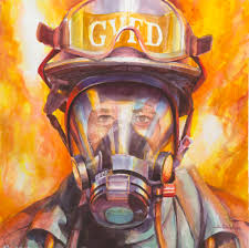 firefighter home decorations steve henderson work zoom firefighter first in last out