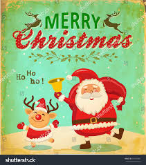 vintage card santa claus stock vector 157018481