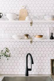 white kitchen cabinets with hexagon backsplash 7 beautiful backsplash tile alternatives to white subway