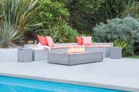 Propane Fire Pit Sets With Chairs Bjfs Flo Concrete Natural Gas Propane Fire Pit Table Wayfair