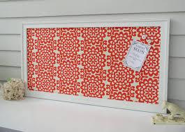Amy Butler Home Decor Fabric Bulletin Board Message Center Magnetic Organizer Framed Memo