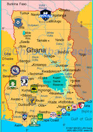 Map Of Ghana Info Graphic Location Of Ghana Premier League Clubs