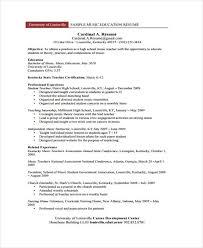 curriculum vitae templates pdf education curriculum vitae templates 6 free word pdf format