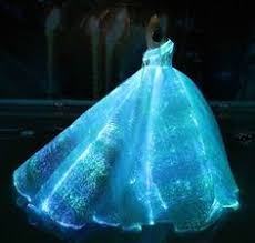 fiber optic wedding dress rgb led light up wedding gown glow in