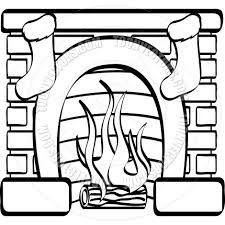 cartoon fireplace vector illustration by clip art guy toon